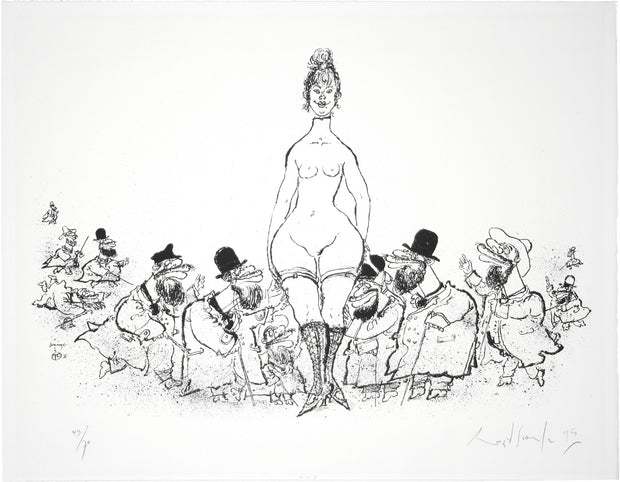 Hommage à Toulouse Lautrec by Ronald Searle - Davidson Galleries