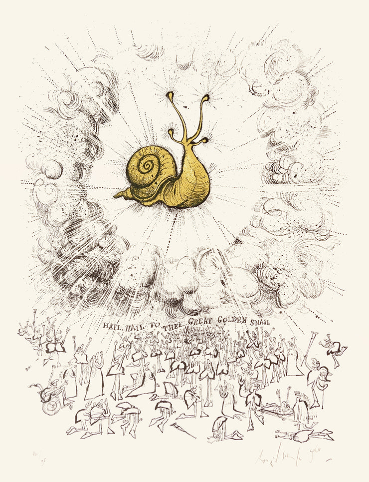 Hail, Hail to Thee Great Golden Snail by Ronald Searle - Davidson Galleries