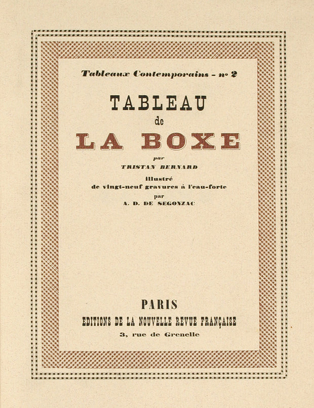 Tableau de la Boxe by Andre Dunoyor De Segonzac - Davidson Galleries