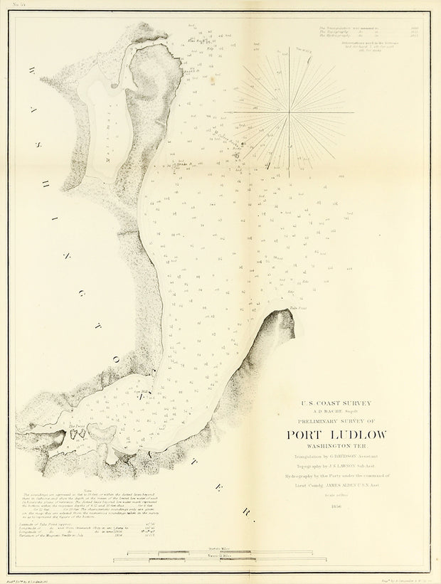 U.S. Coast Survey Preliminary Survey of Port Ludlow, Washington Territory by Maps, Views, and Charts - Davidson Galleries