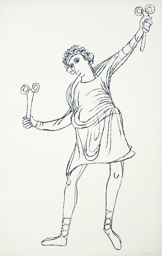 Young Man Playing Sistrum by Ben Shahn - Davidson Galleries