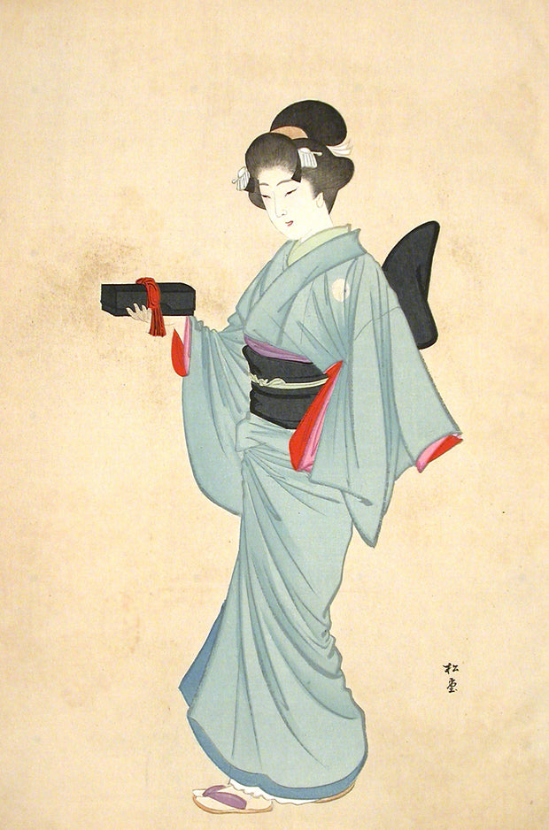 Daimyo's Servant Girl - Keio by Yukawa Shodo - Davidson Galleries
