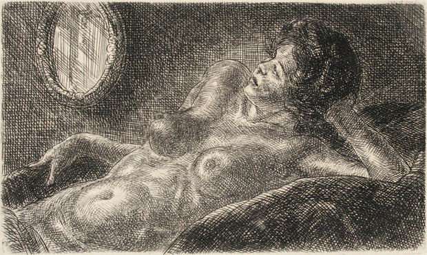Half Nude on Elbow by John Sloan - Davidson Galleries