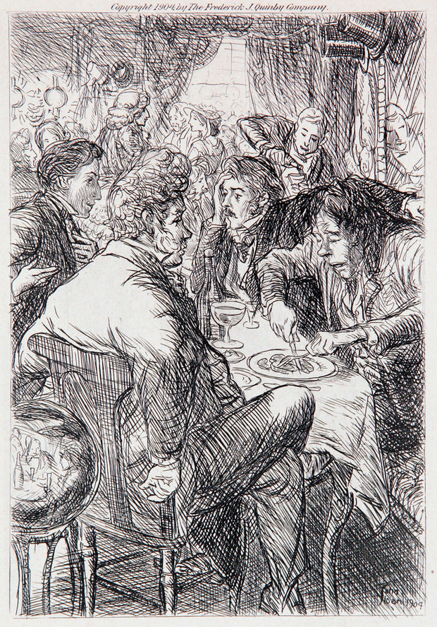 Four Friends at the Cafe by John Sloan - Davidson Galleries