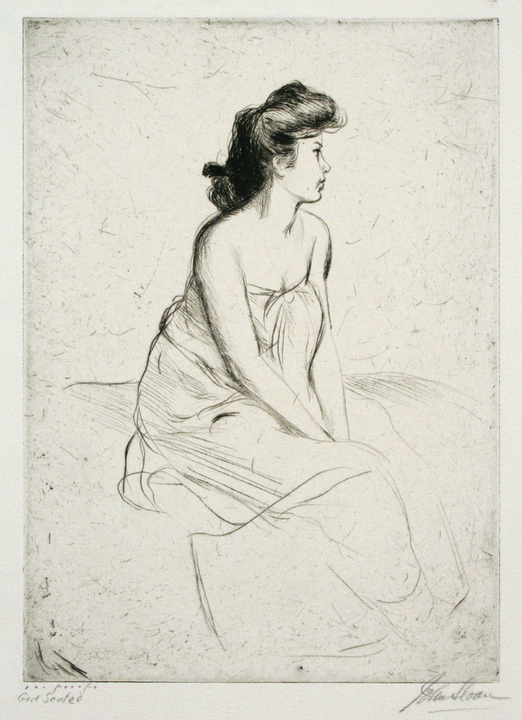 Girl Seated by John Sloan - Davidson Galleries