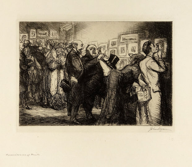 Connoisseurs of Prints by John Sloan - Davidson Galleries