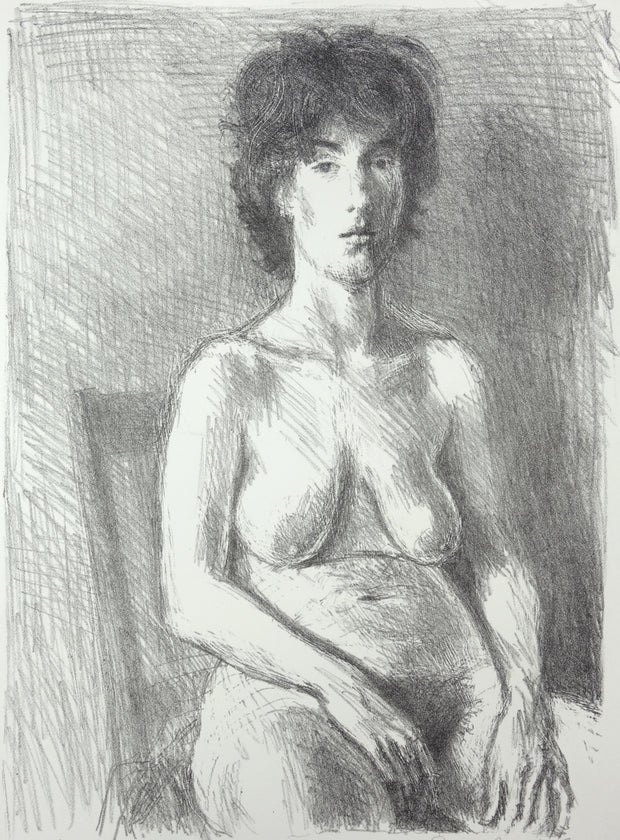Seated Nude by Raphael Soyer - Davidson Galleries