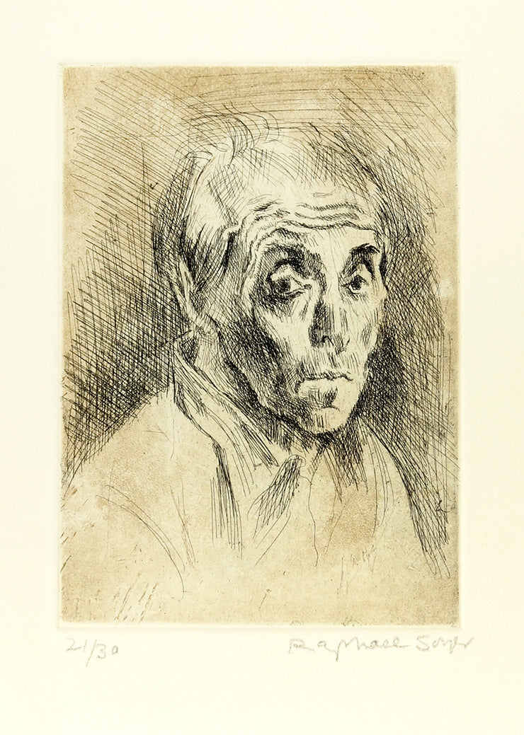 Self Portrait by Raphael Soyer - Davidson Galleries