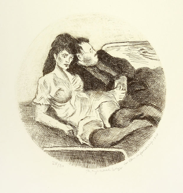 The Couple by Raphael Soyer - Davidson Galleries