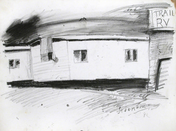 Trailer Park Drawing by Jay Steensma - Davidson Galleries