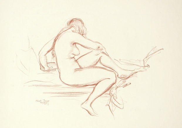 Seated Nude by Albert Sterner - Davidson Galleries