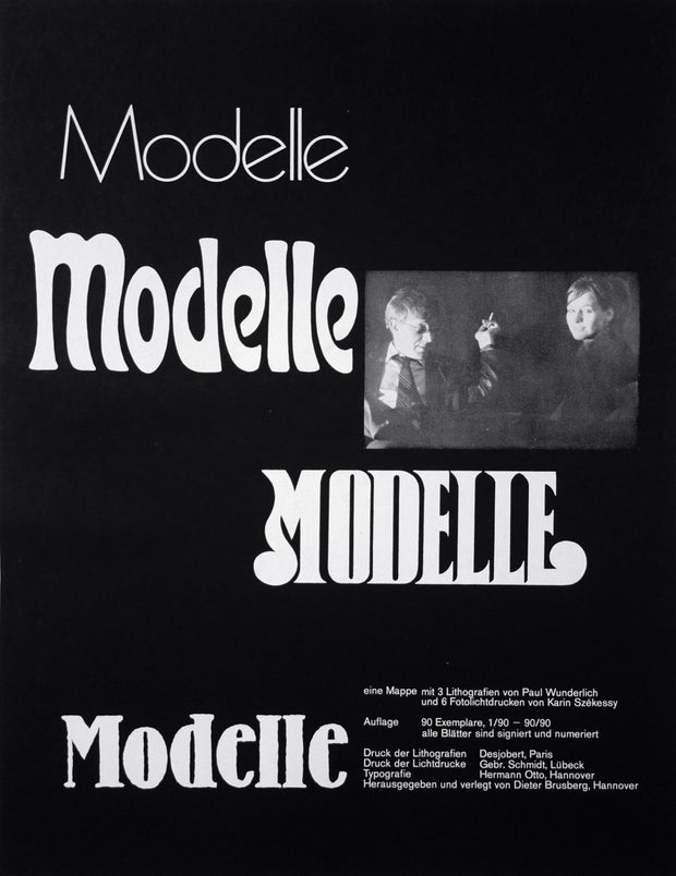 Title Page for Modelle Portfolio by Karin Székessy - Davidson Galleries