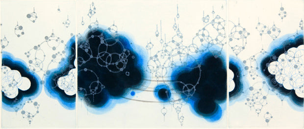 Origin-Blue Consonant-1 by Seiko Tachibana - Davidson Galleries