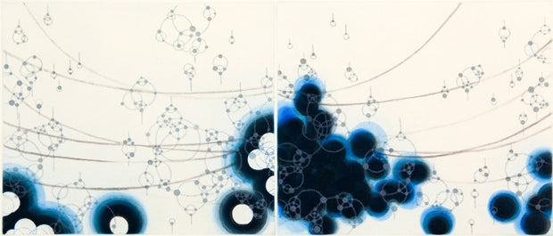 Origin-Blue Consonant-7 by Seiko Tachibana - Davidson Galleries