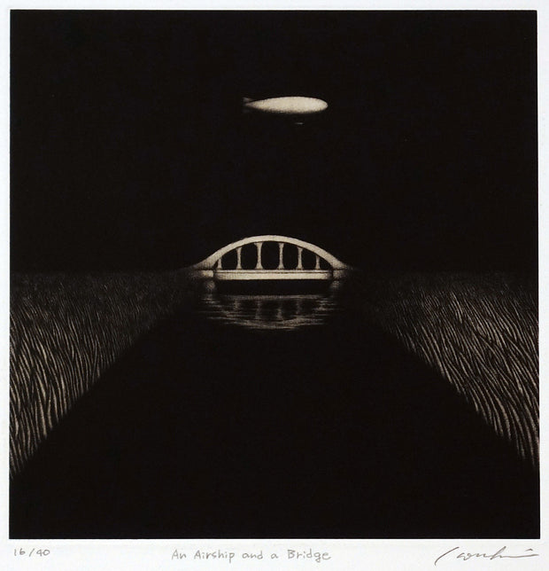 An Airship and a Bridge by Kouki Tsuritani - Davidson Galleries