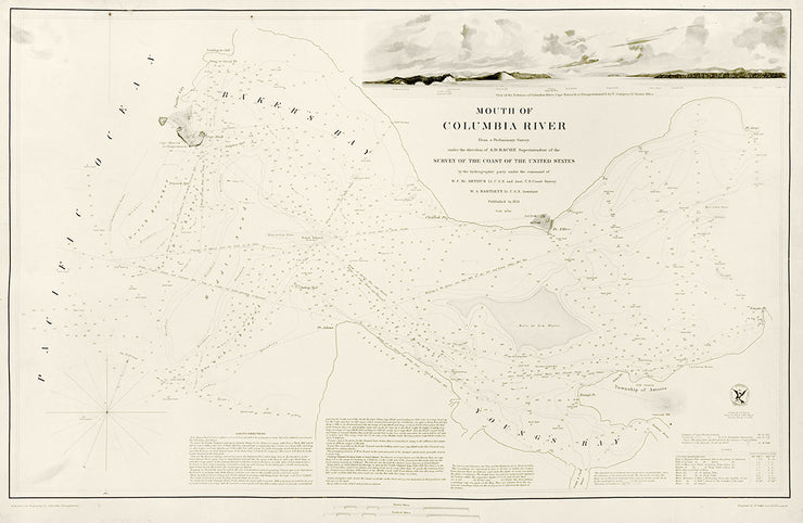 Mouth of Columbia River by Maps, Views, and Charts - Davidson Galleries