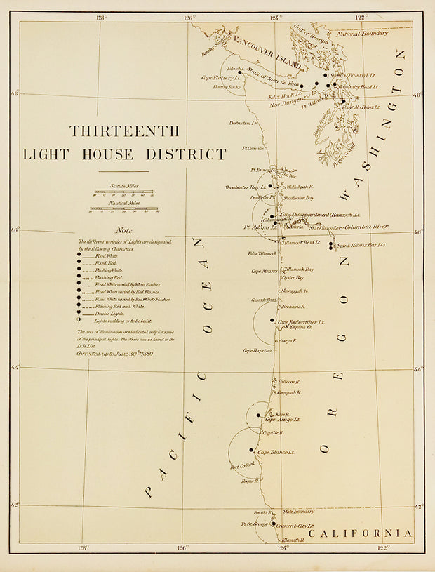 Thirteenth Light House District by Maps, Views, and Charts - Davidson Galleries