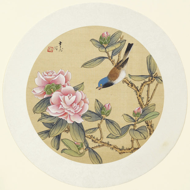 Bird and Flowers by Artist Unidentified - Davidson Galleries
