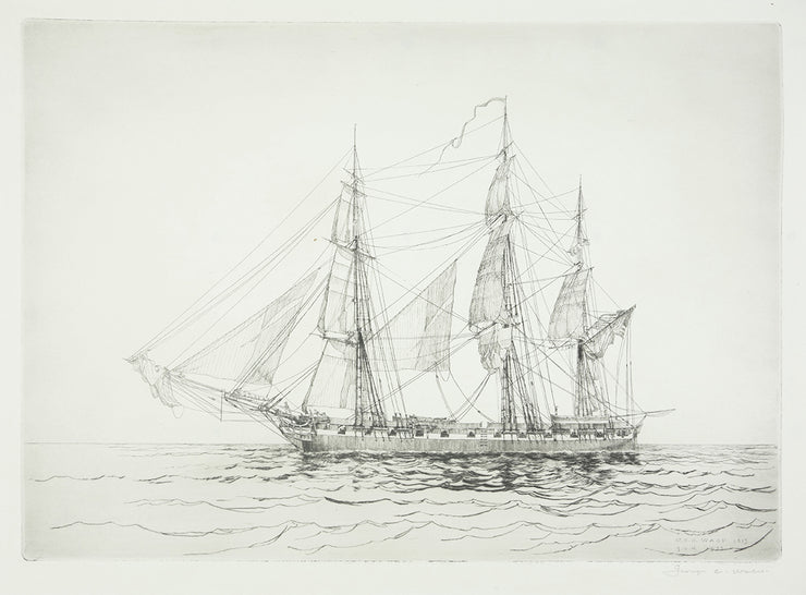 U.S.S. Wasp, 1813 by George C. Wales - Davidson Galleries