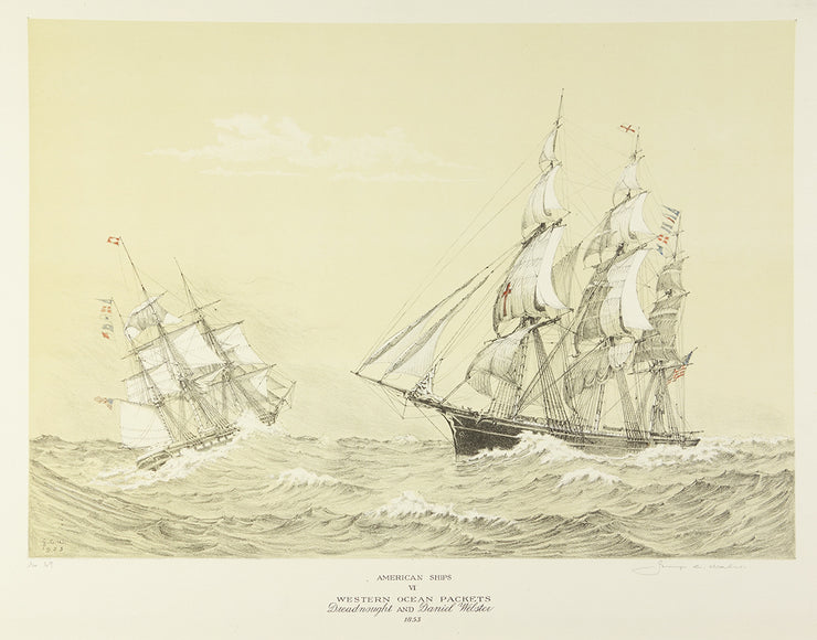 American Ships VI (Western Ocean Packets, Dreadnought and Daniel Webster, 1853) by George C. Wales - Davidson Galleries