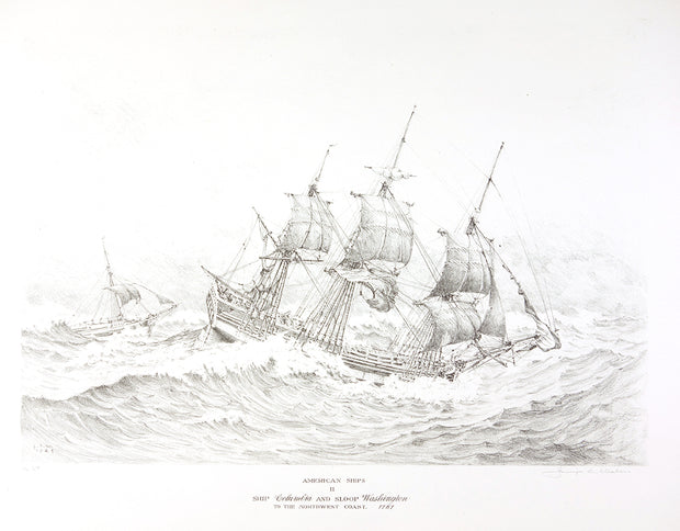 American Ships II (Ship Columbia and Sloop Washington to the Northwest Coast, 1787) by George C. Wales - Davidson Galleries