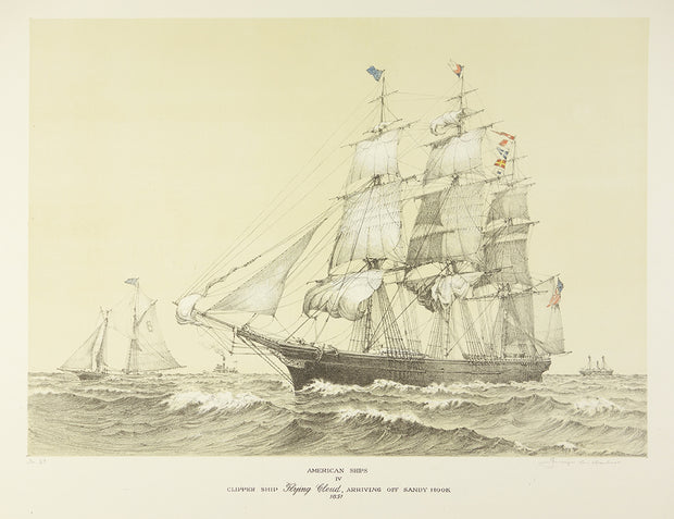 American Ships IV (Clipper Ship Flying Cloud, Arriving off Sandy Hook, 1851) by George C. Wales - Davidson Galleries