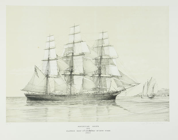 American Ships XVI (Clipper Ship NB Palmer of New York, 1851) by George C. Wales - Davidson Galleries