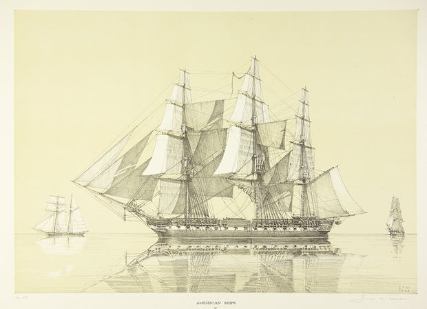 American Ships V (44- Gun Frigate Constitution, 1812) by George C. Wales - Davidson Galleries
