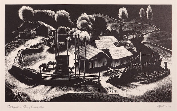 The Corral - Tres Cumbres by Lynd Ward - Davidson Galleries