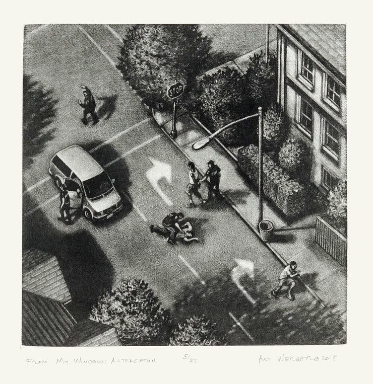 From My Window: Altercation by Art Werger - Davidson Galleries