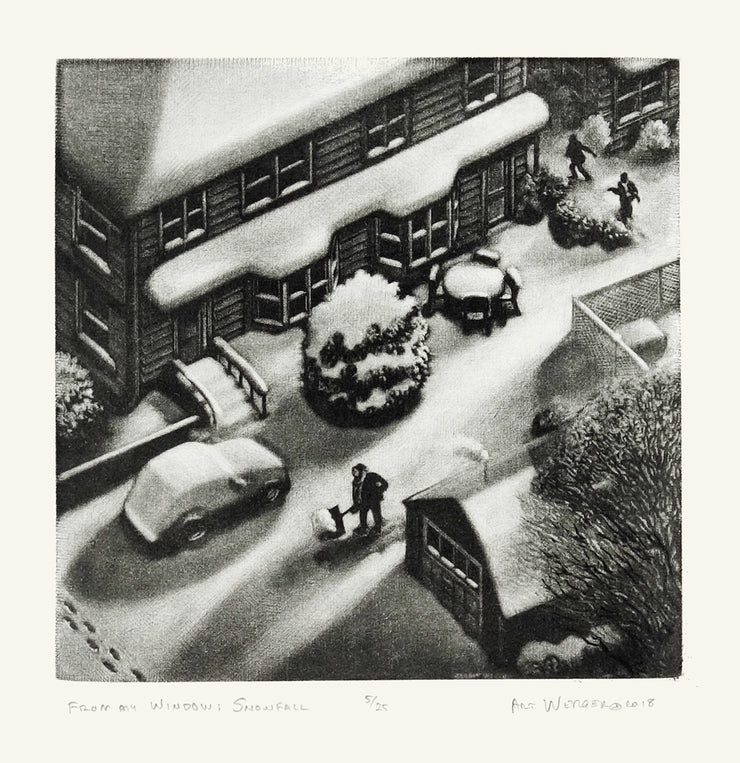 From My Window: Snowfall by Art Werger - Davidson Galleries