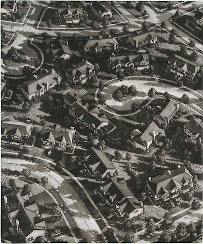 McMansions (black and white) by Art Werger - Davidson Galleries