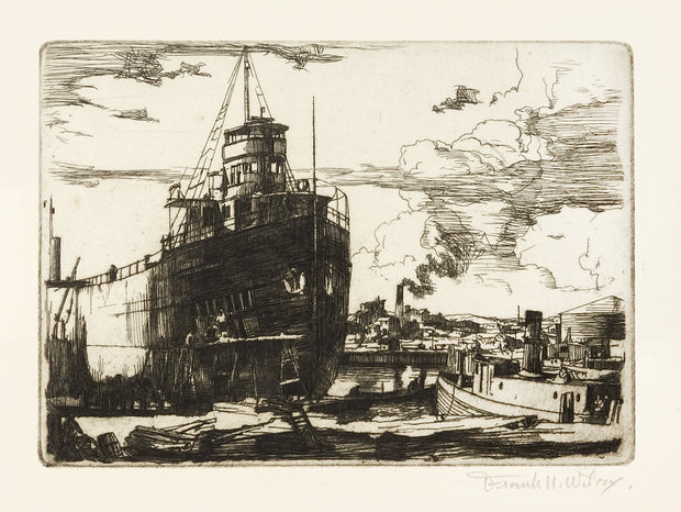 Drydock, Repairs by Frank Wilcox - Davidson Galleries