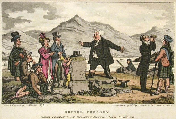 Doctor Prosody Doing Penance on Drunken Island, Loch Lommond by Charles Williams - Davidson Galleries
