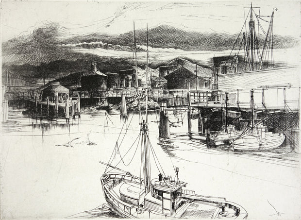 Near Dusk At Fisherman's Wharf by John William J. Winkler - Davidson Galleries