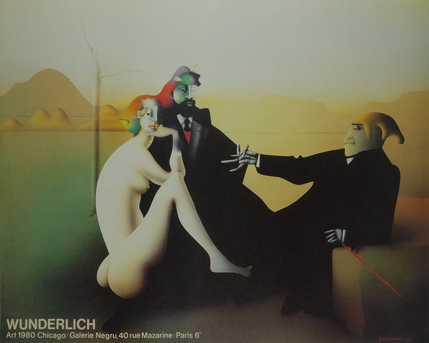 "Poster for Galerie Negru ""Art 1980 Chicago"" by Paul Wunderlich - Davidson Galleries"