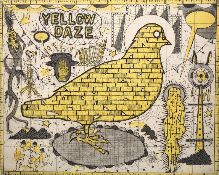 Yellow Daze by Tony Fitzpatrick - Davidson Galleries