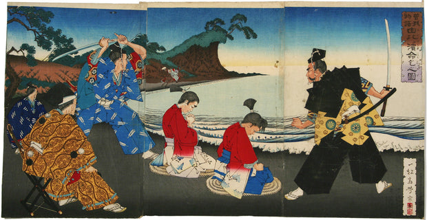 The Soga Brothers Begging for Their Lives at Yuigamama by Isshosai Yoshimune - Davidson Galleries