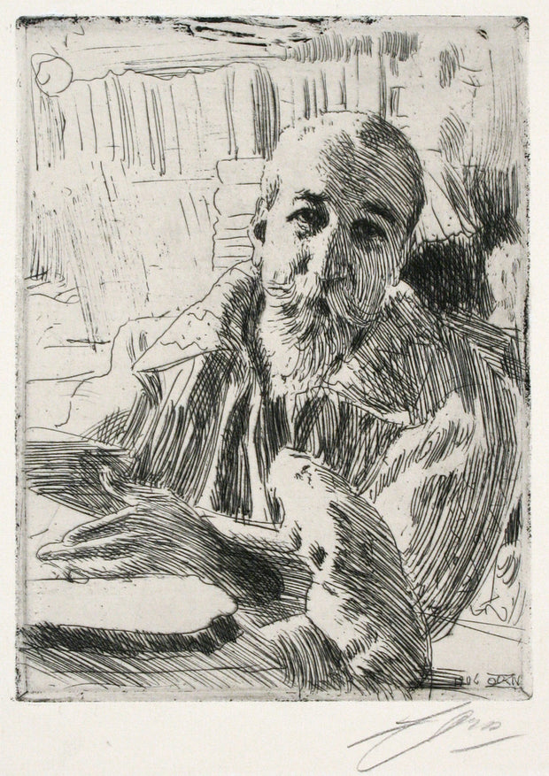 Anatole France (Nobel Prize-Winner in Literature, 1921) by Anders Leonard Zorn - Davidson Galleries