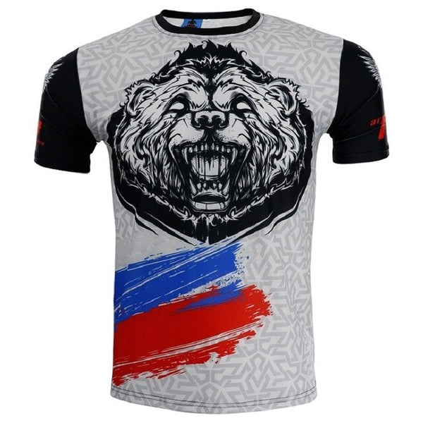 Grey Bear MMA Shorts T-shirt BJJ No GI - Trunks Rashguard