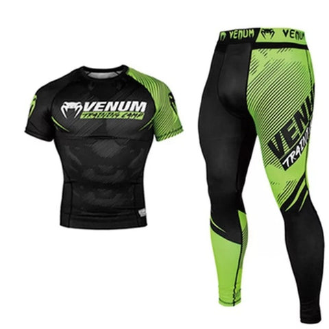 Venum Suit Mens - MMA TRUNKS Sublimated print BJJ rashguard jiu jitsu