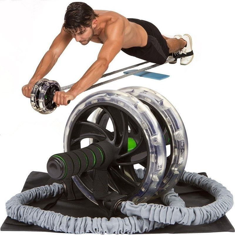 1Pc/60cm Ab Roller Wheel & Pull Rope