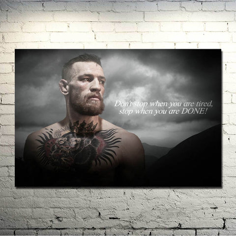 Conor McGregor UFC Motivational Canvas Poster