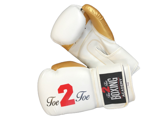 Toe 2 Toe BOXING GLOVES - Velcro Strap, (Contest, Sparring)