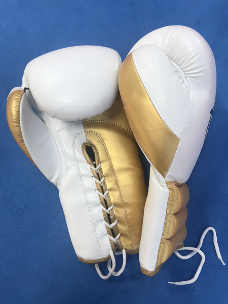 Professional Lace Up Toe 2 Toe Boxing Gloves