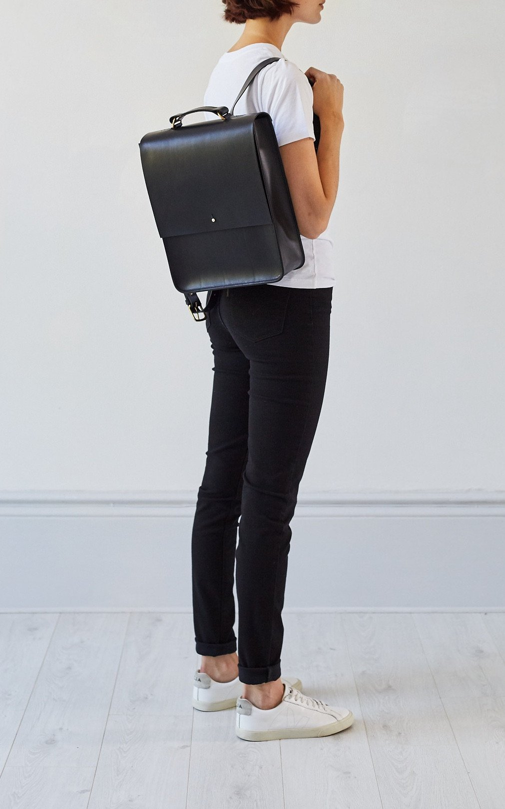 Emma Backpack Black, Backpack - Grace Gordon