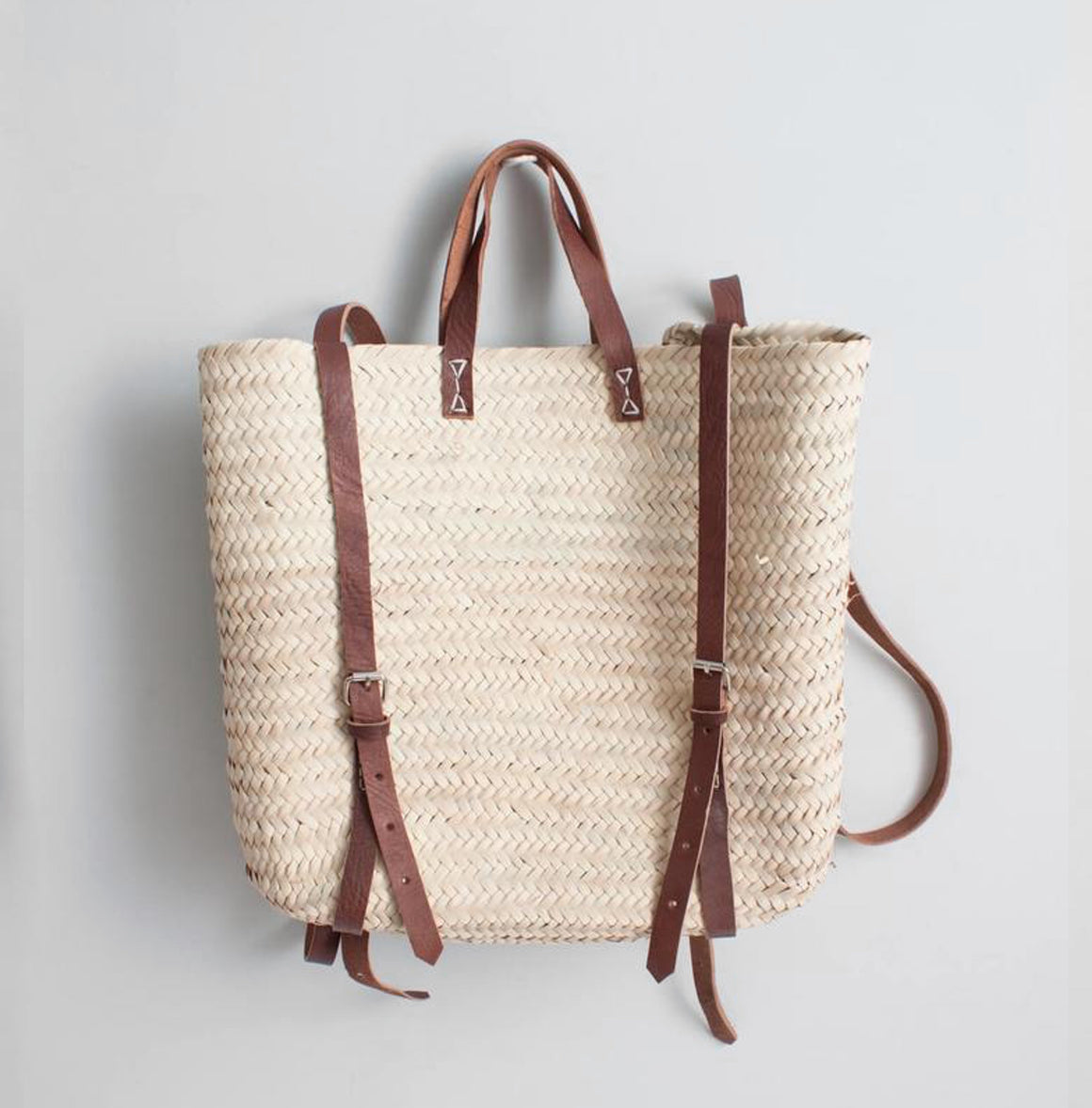 Woven Satchel Backpack, Basket Bag - Grace Gordon