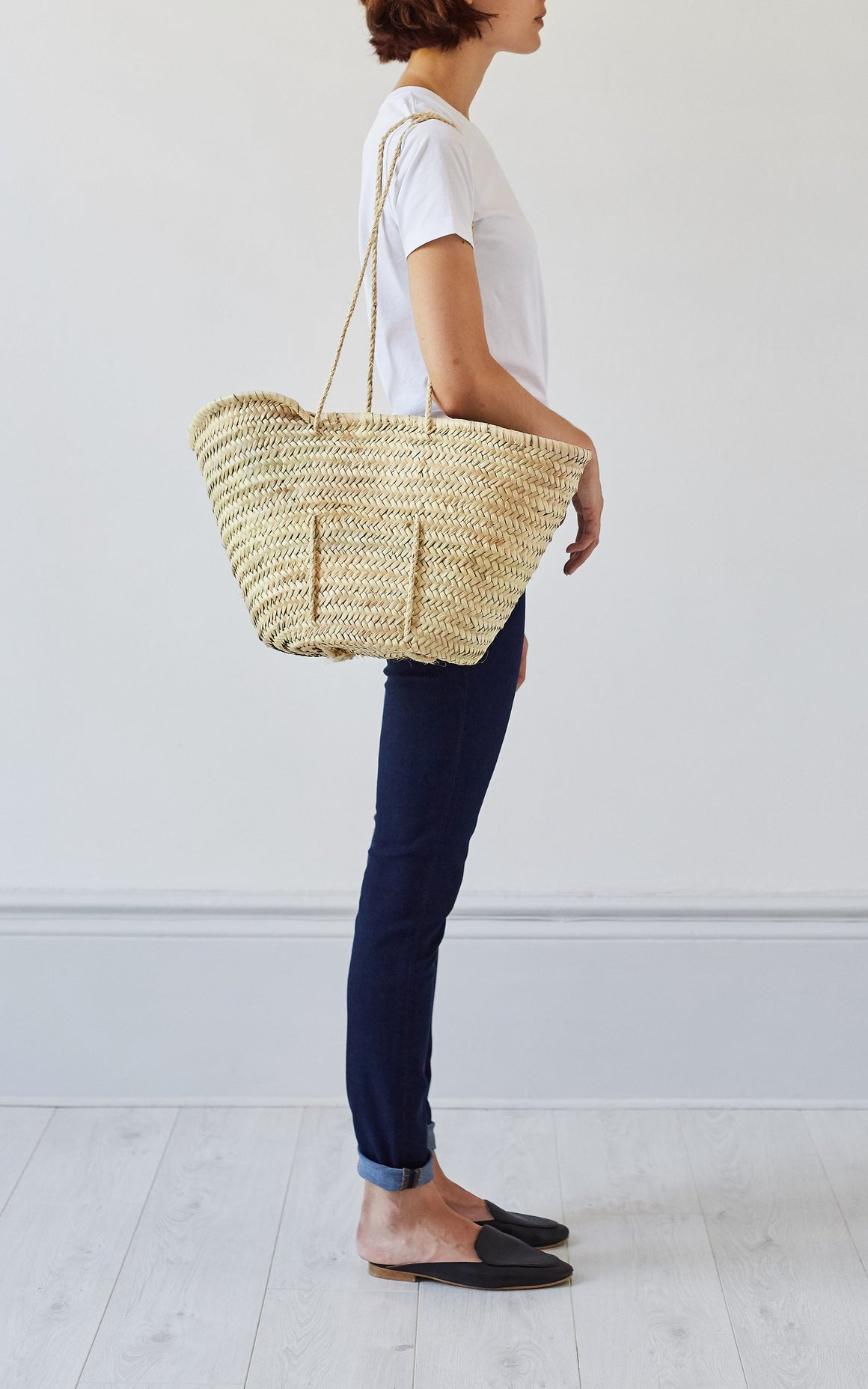 Woven Shopper Basket, Basket Bag - Grace Gordon