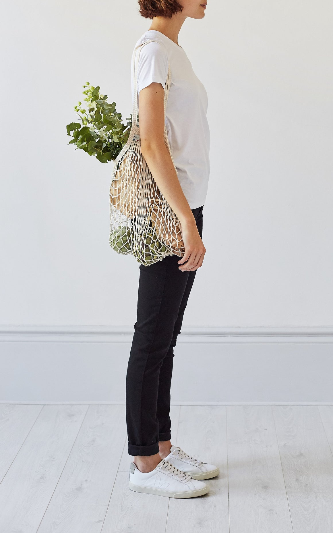 French Net Market Bag - Long Handle, Net Bag - Grace Gordon