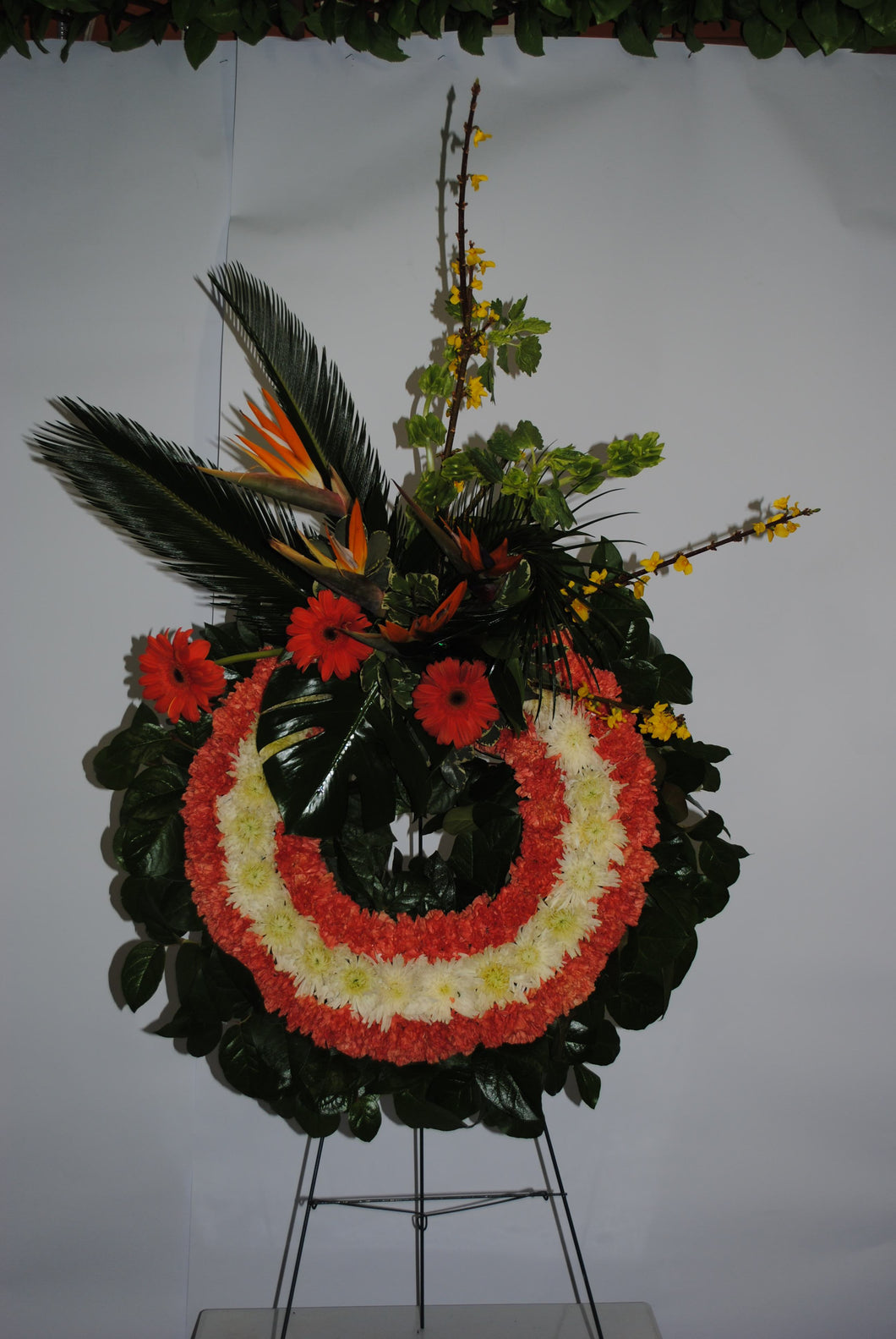 Orange Red & White Serenity Wreath